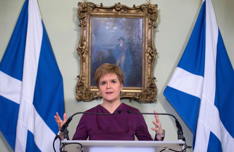 První ministryně Skotska Nicola Sturgeonová.