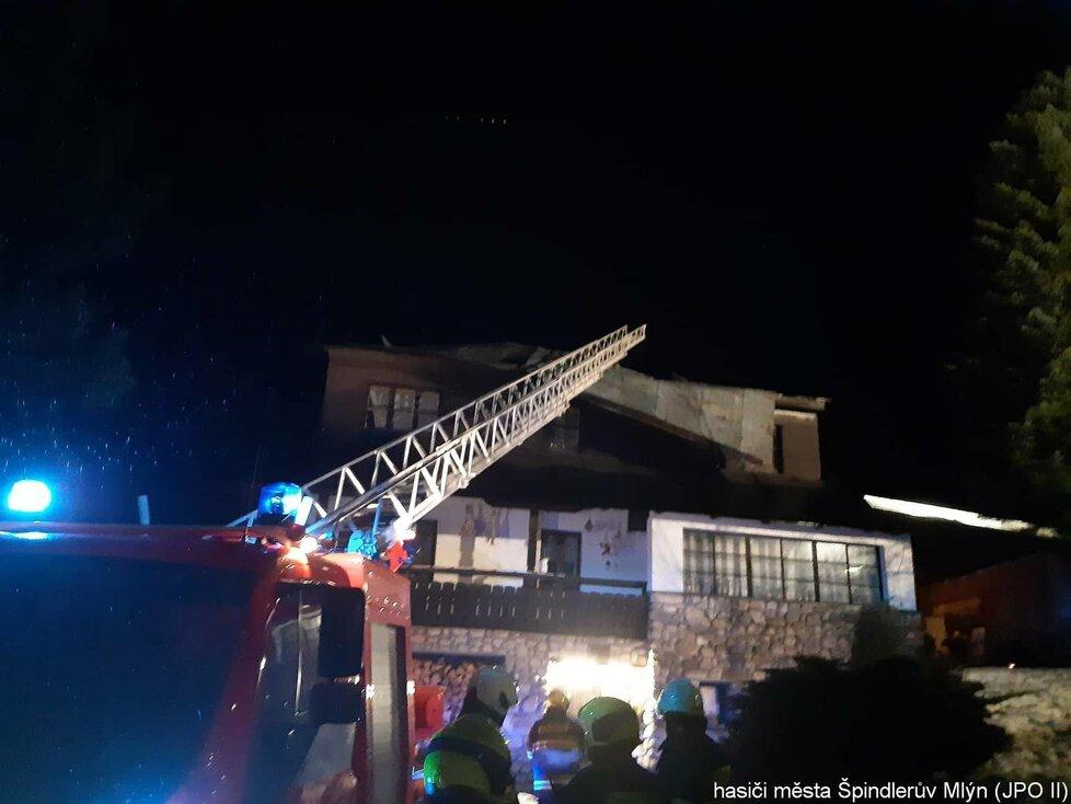 Orkán Yulia: Zásahy hasičů v Královéhradeckém kraji