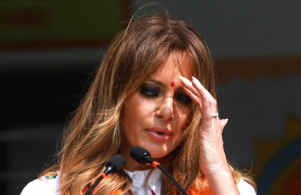 První dáma USA Melania Trumpová během státní návštěvy Indie (24.-25.2.2020).
