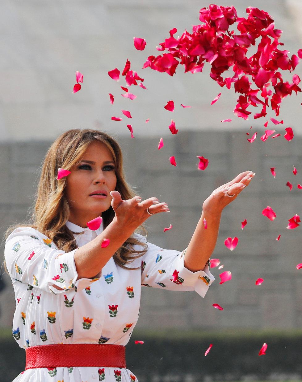 První dáma USA Melania Trumpová během státní návštěvy Indie (24.-25.2.2020)