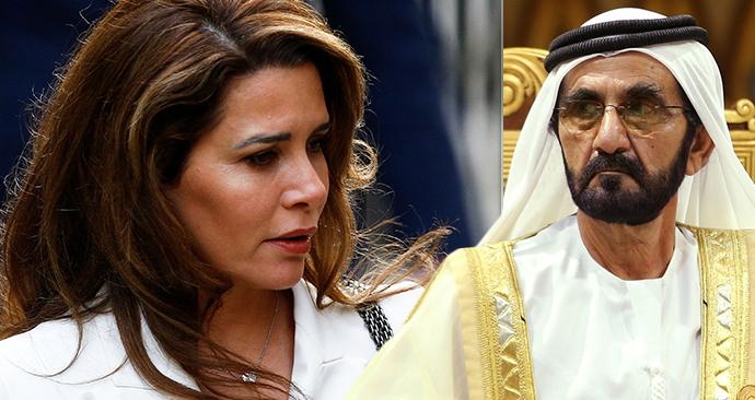 Jordánská princezna Hajá bint al-Husajn u Odvolacího soudu v Londýně, (26.02.2020), kam musela kvůli odvolání svého manžela,  dubajského šejcha Muhammada.