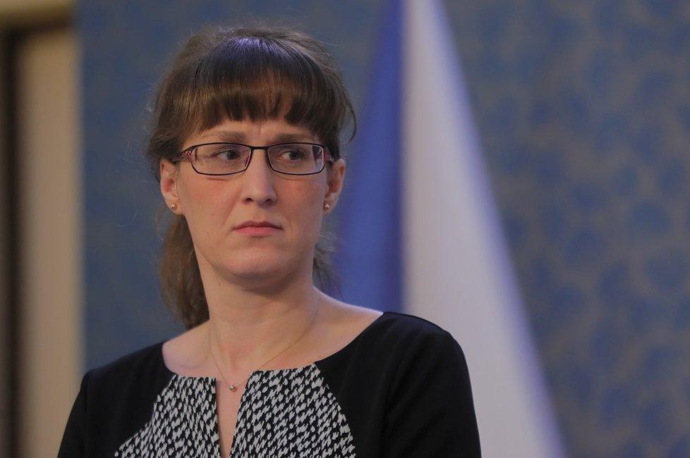 Hlavní hygienička Eva Gottvaldová na Úřadě vlády (28.2.2020)