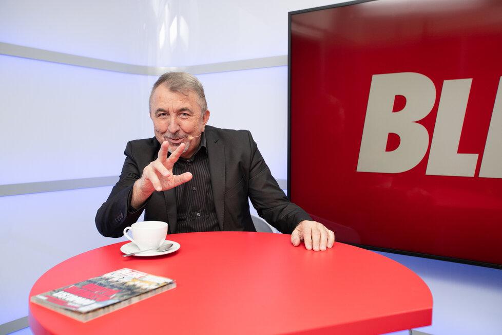 Režisér Fero Fenič ve studiu Blesku