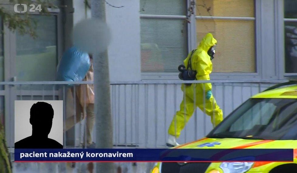 Čech nakažený koronavirem v Itálii: Převezli ho z nemocnice v Ústí na Bulovku, promluvil pro ČT (1. 3. 2020).