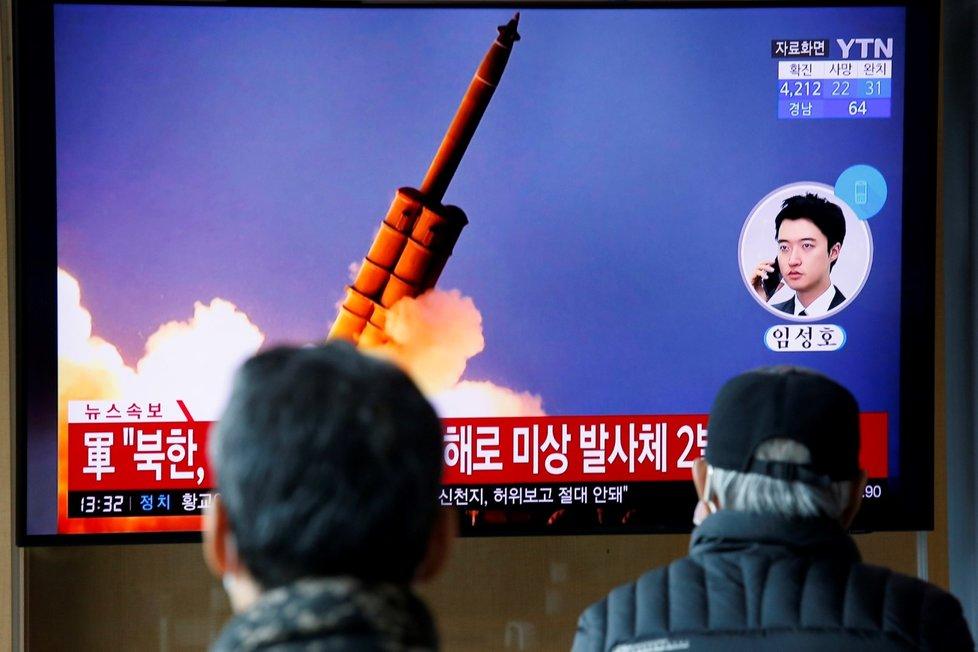 Severní Korea odpálila dvě rakety, uvedla Jižní Korea