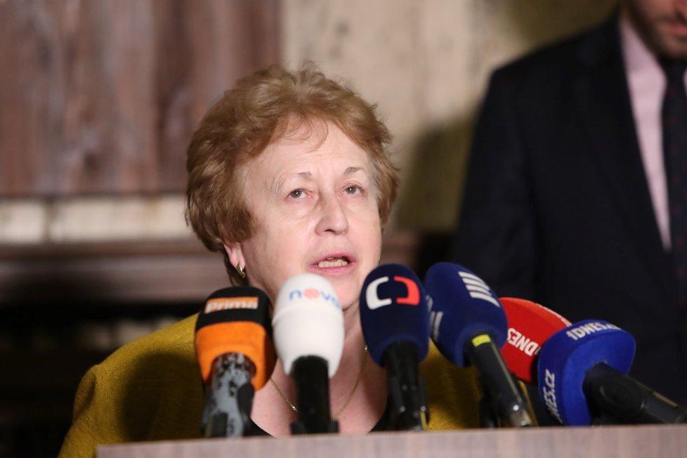 Ředitelka Hygienické stanice hl. m. Prahy Zdeňka Jágrová (4. 3. 2020)