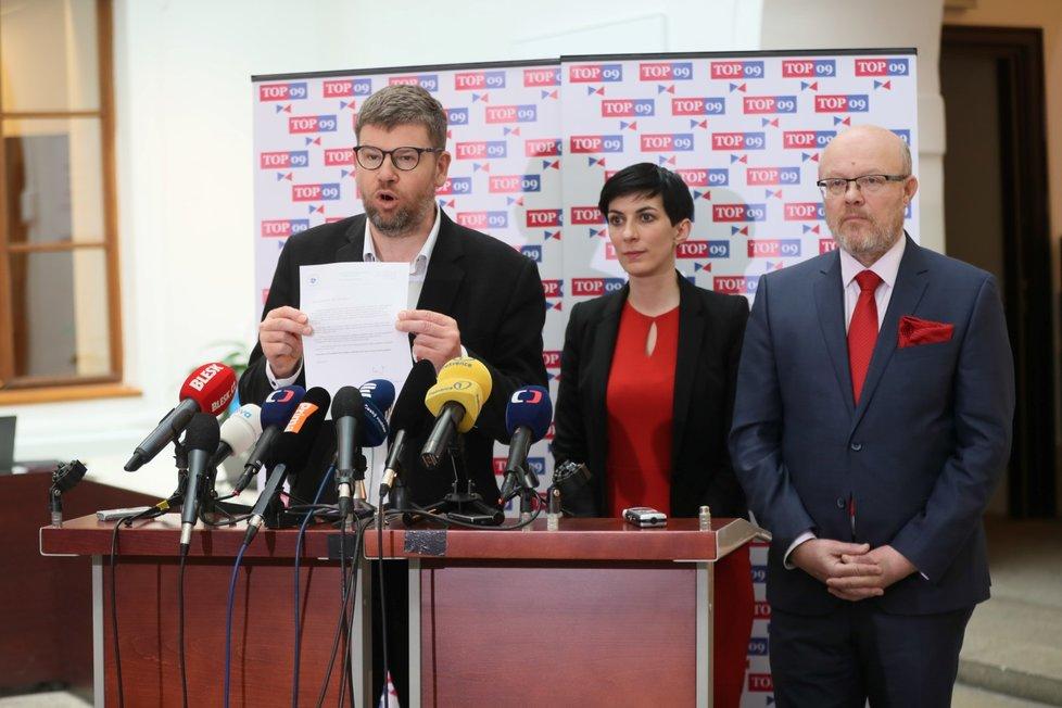 Tisková konference TOP 09 v Poslanecké sněmovně Parlamentu ČR (3. 3. 2020)