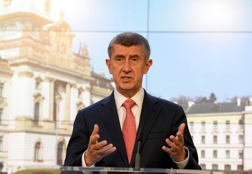 Tisková konferenci po jednání Bezpečnostní rady státu: Andrej Babiš (ANO)