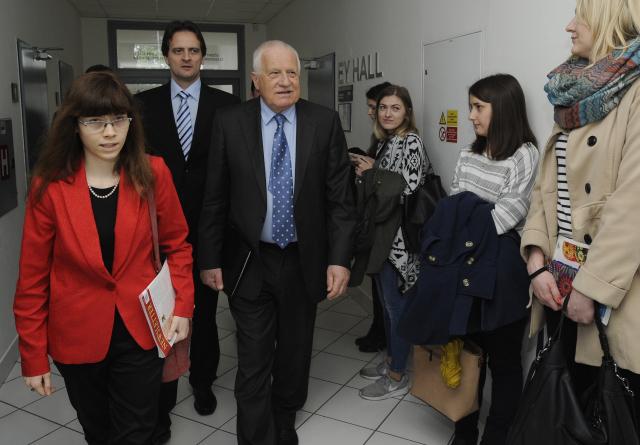 Ekonomka Hana Lipovská s Václavem Klausem