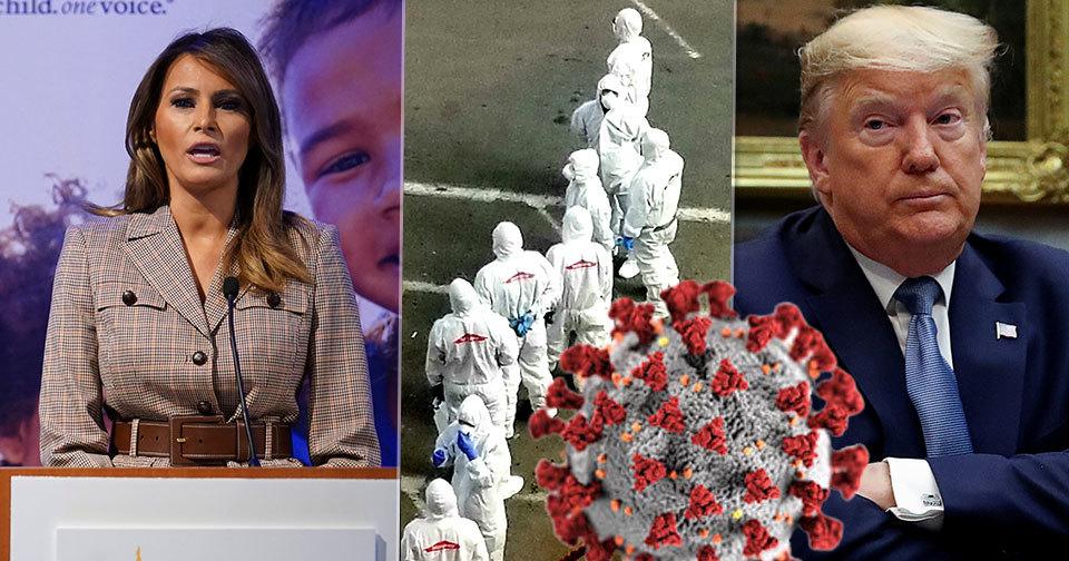 Trump je kritizován za vlažný postoj ke koronaviru. K epidemii se nevyjádřila ani první dáma.