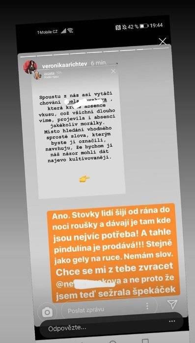 Veronika Arichteva se obula do Slovákové - z jejího byznysu je jí na zvracení