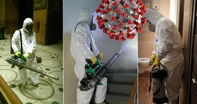 Takhle čistí koronavirus! Adam ukázal, jak se dezinfikují úřady, firmy i domy obyčejných lidí