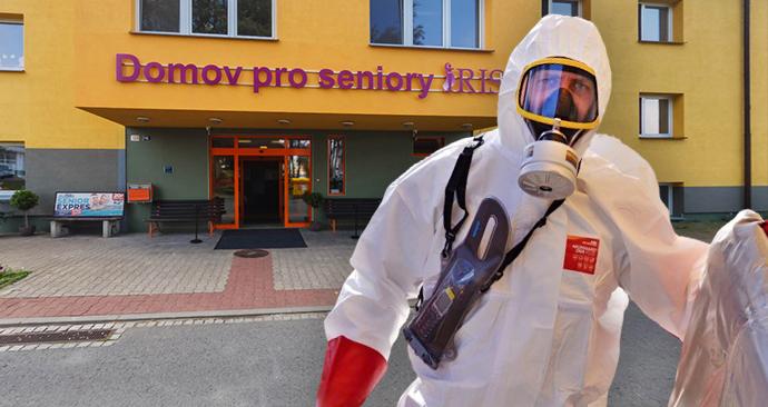 Hasiči zahájili dekontaminaci domova důchodců Iris v Ostravě - Mariánských Horách. Pozitivní na koronavirus je tu jedna ze zaměstnankyň a tři seniorky.