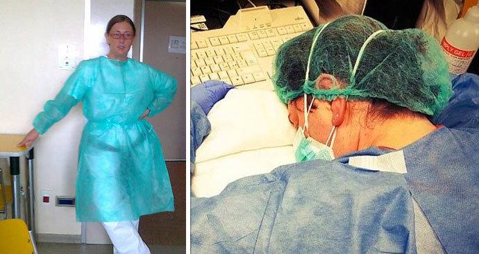 Zdravotní sestra vyčerpáním usnula na stole: Fotka s ní se stala symbolem boje proti koronaviru!