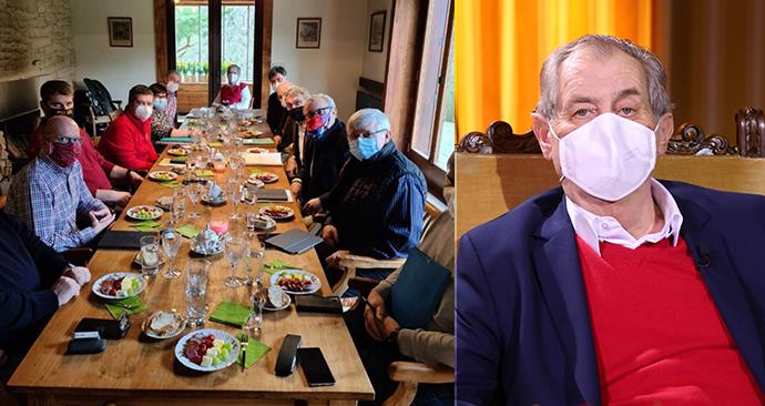 Prezident Zeman v rozhovoru pro Blesk okomentoval i kritizované jednání poradního týmu s ministry. (5. 4. 2020)