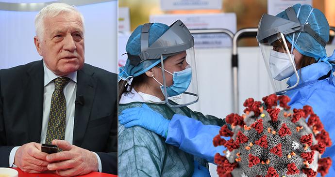 Exprezident Václav Klaus hostem pořadu Epicentrum dne 7.4.2020.