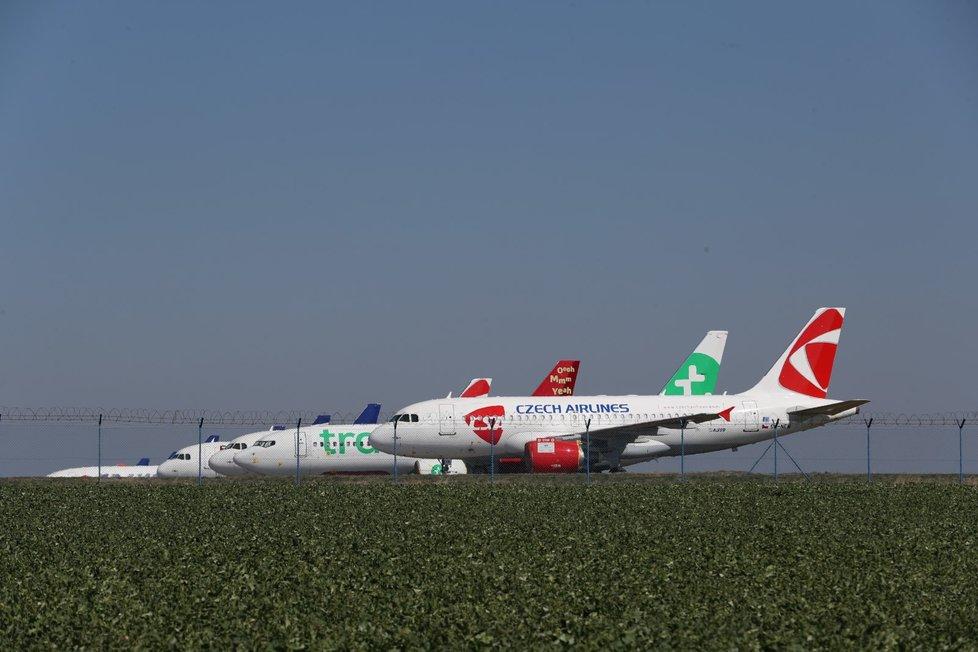 Pražské letiště v době koronavirové pandemie