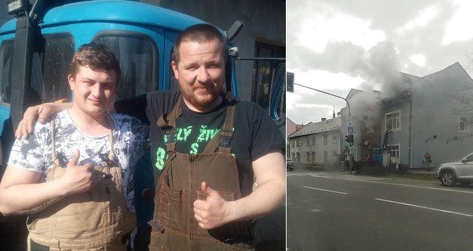 Bronislav zachránil z hořícího domu dvě ženy.
