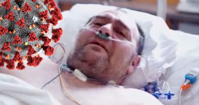 Z nemocničního lůžka se ozval v úterý 14. dubna nakažený taxikář: Děkuji, že jste mě zachránili, jste andělé, vzkázal lékařům a zdravotníkům.