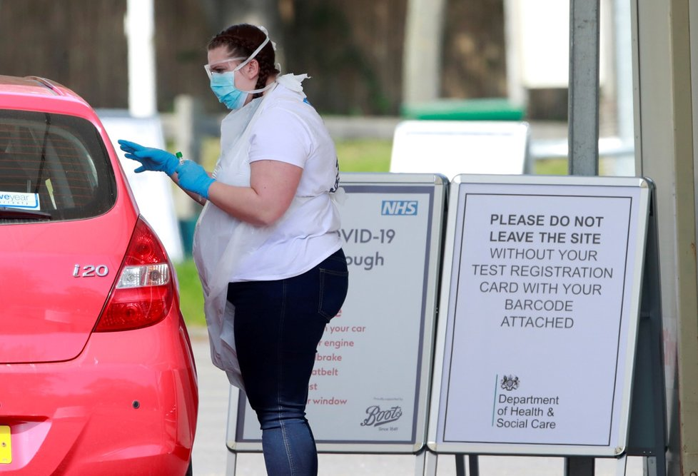 Testování ve Velké Británii.