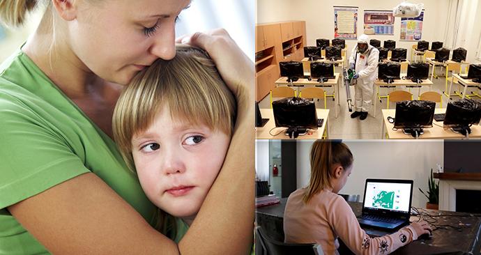 Pro některé rodiče není snadné zajistit dětem potřebnou techniku k on-line výuce.