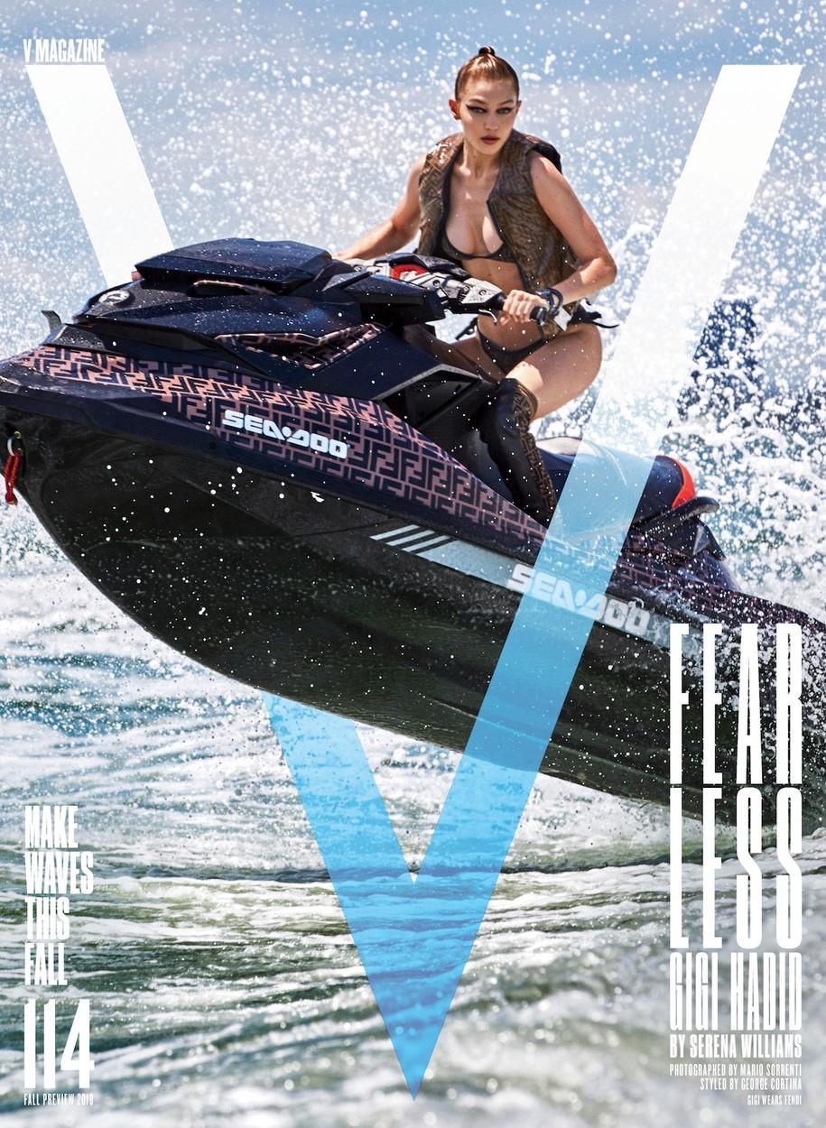 Gigi Hadid na titulní straně časopisu V Magazine.