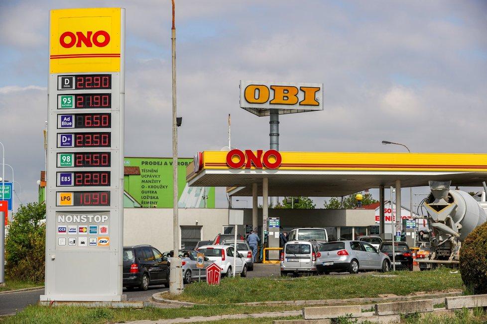 Ceny pohonných hmot v Česku spadly na minimum.
