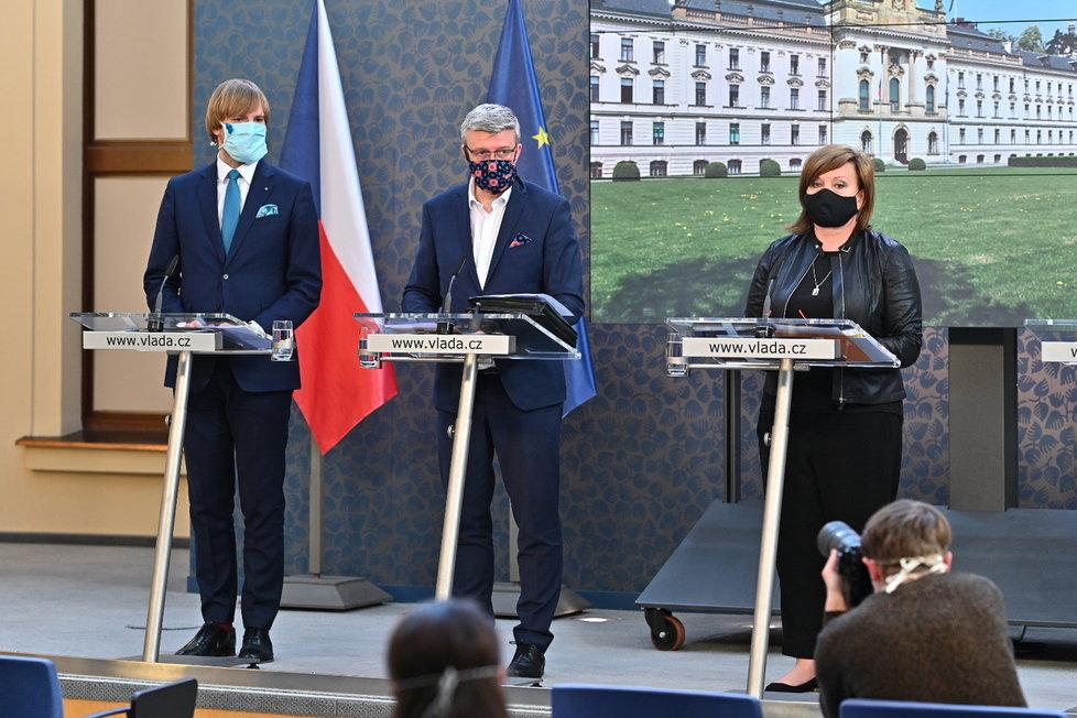 Jednání vlády: Vojtěch, Havlíček a Schillerová na tiskovce (27.4.2020)