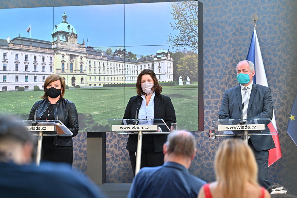 Jednání vlády: Schillerová, Maláčová a Prymula a tiskovce (27.4.2020)