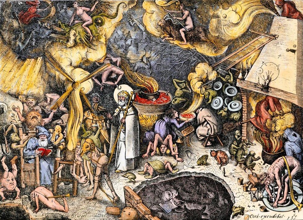 Svatý Jakub odolává pokušení  čarodějnického sabatu
