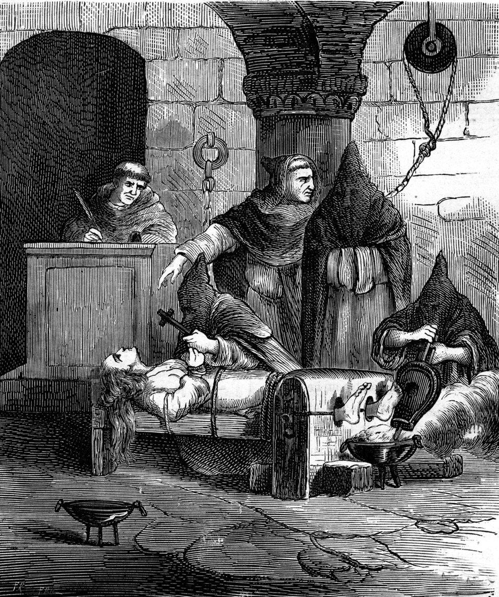 Mučení čarodějnice na skřipci