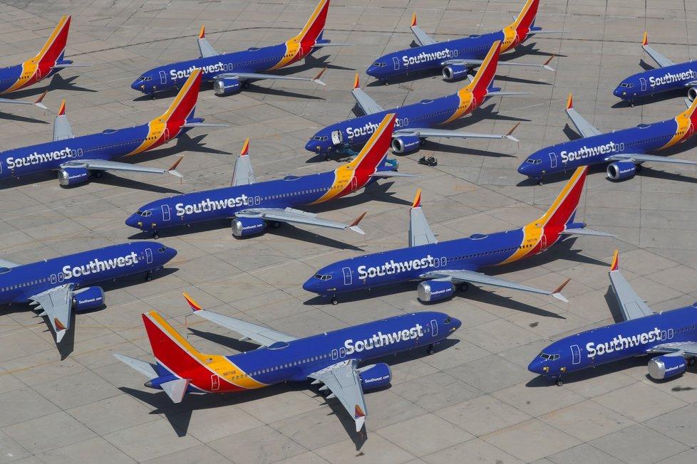 Odstavené Boeingy 737 MAX