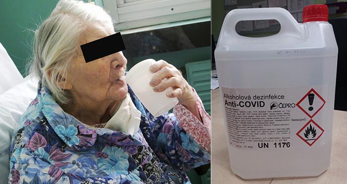 Důchodkyně se bála koronaviru: Vypila dezinfekci AntiCovid