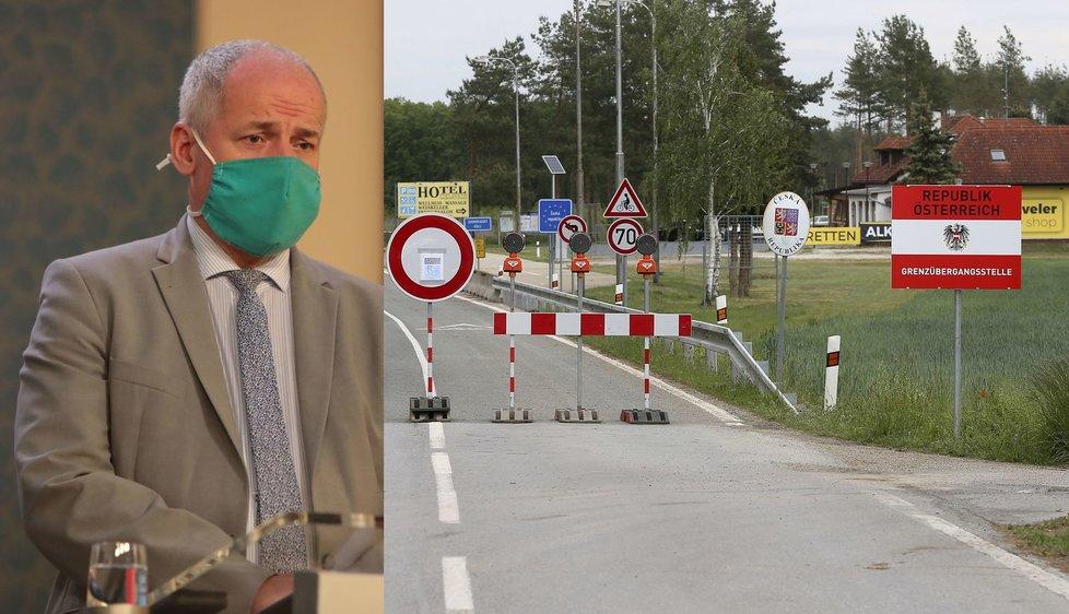 Náměstek ministra zdravotnictví Roman Prymula o otevření česko-rakouských hranic