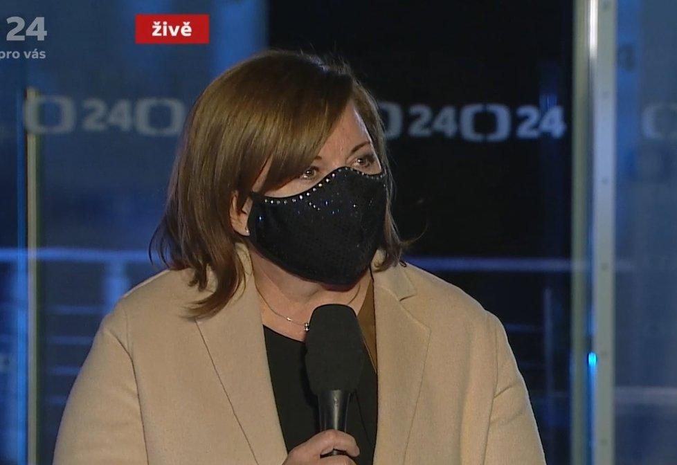 Alena Schillerová (za ANO) ve vysílání ČT o opatření kvůli koronaviru a dopadech na ekonomiku