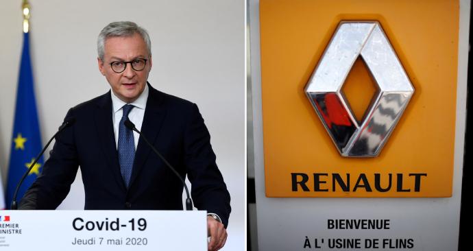 Francouzský ministr financí Bruno Le Maire varoval, že Renault by mohl přestat existovat, pokud nedostane pomoc, která mu umožní čelit dopadům koronaviru.