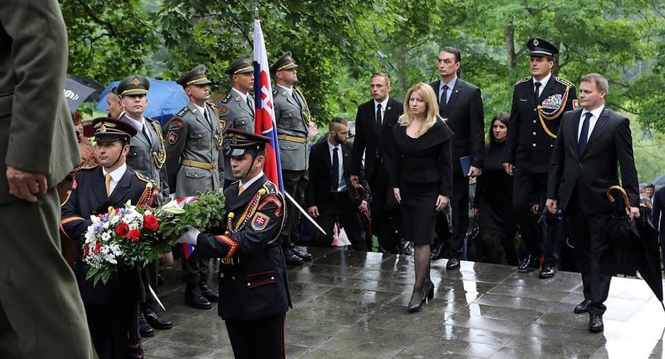 Slovenská prezidentka Zuzana Čaputová s partnerem Jurajem Rizmanem.