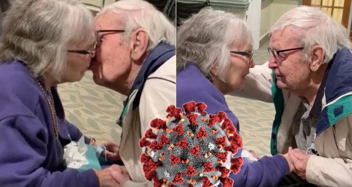 Americký pár, který je spolu již 70 let, se znovu setkal po oddělení vlivem protipandemických opatření