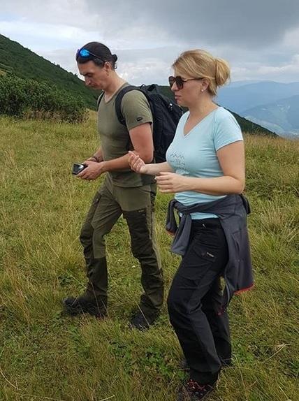 Zuzana Čaputová a Juraj Rizman na výšlapu v Malé Fatře