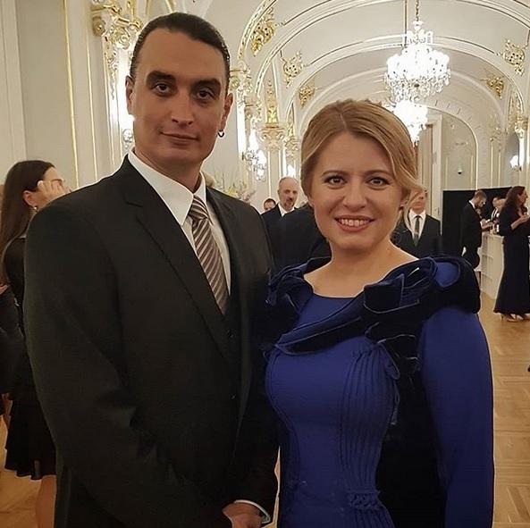 Juraj Rizman a Zuzana Čaputová během inaugurační recepce