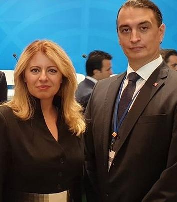 Zuzana Čaputová se svým bývalým poradcem a nyní přítelem Jurajem Rizmanem