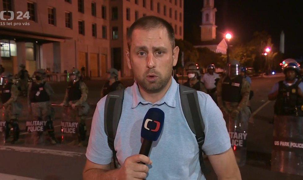 Reportér David Miřejovský informuje o nepokojích v USA.