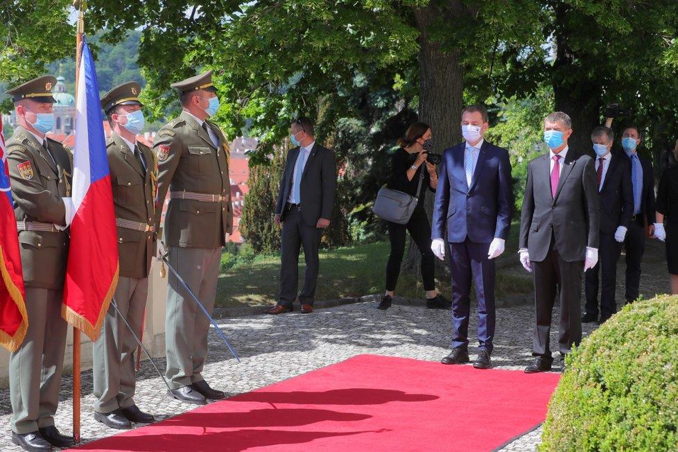 Návštěva slovenského premiéra v Česku: Igor Matovič a Andrej Babiš (3. 6. 2020)