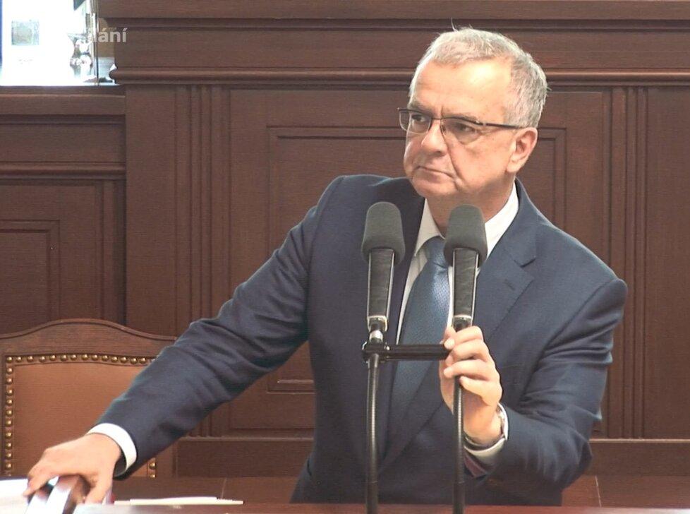 Sněmovna o podílu českých potravin v regálech: Exministr financí Miroslav Kalousek (TOP 09) (3.6.2020)