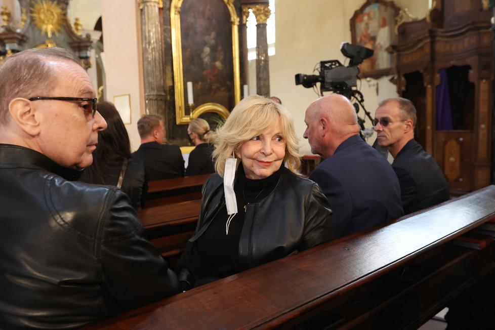 Hana Zagorová se Štefanem Margitou na zádušní mši