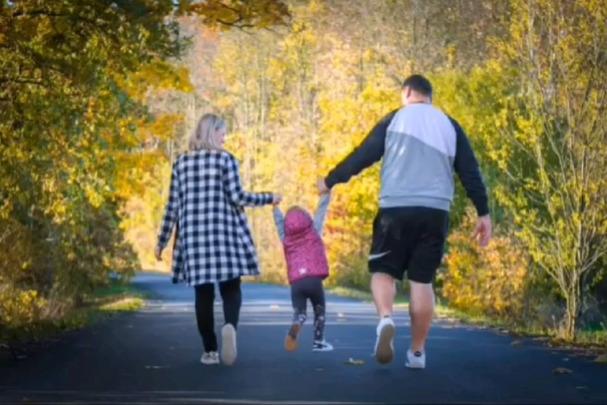 Radek s Janou a dcerkou