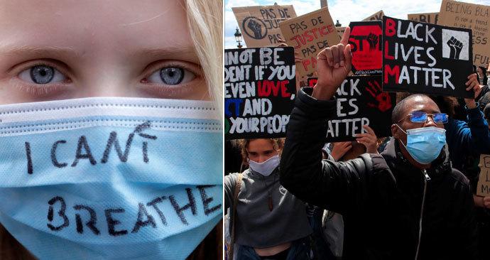 V Evropě se protestuje proti rasismu a policejní brutalitě. (6. 6. 2020)