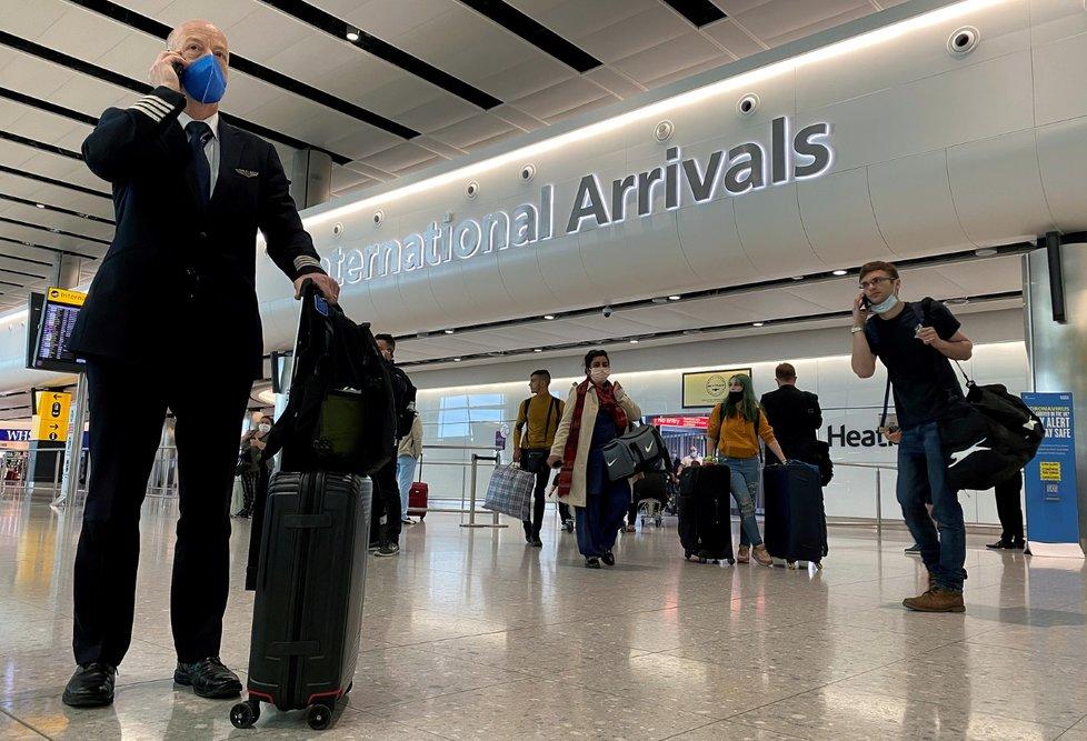 Letiště London Heathrow v době koronaviru.