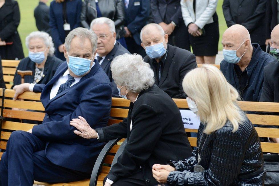 Prezident Miloš Zeman na 78. výročí vypálení Lidic (10.6.2020)