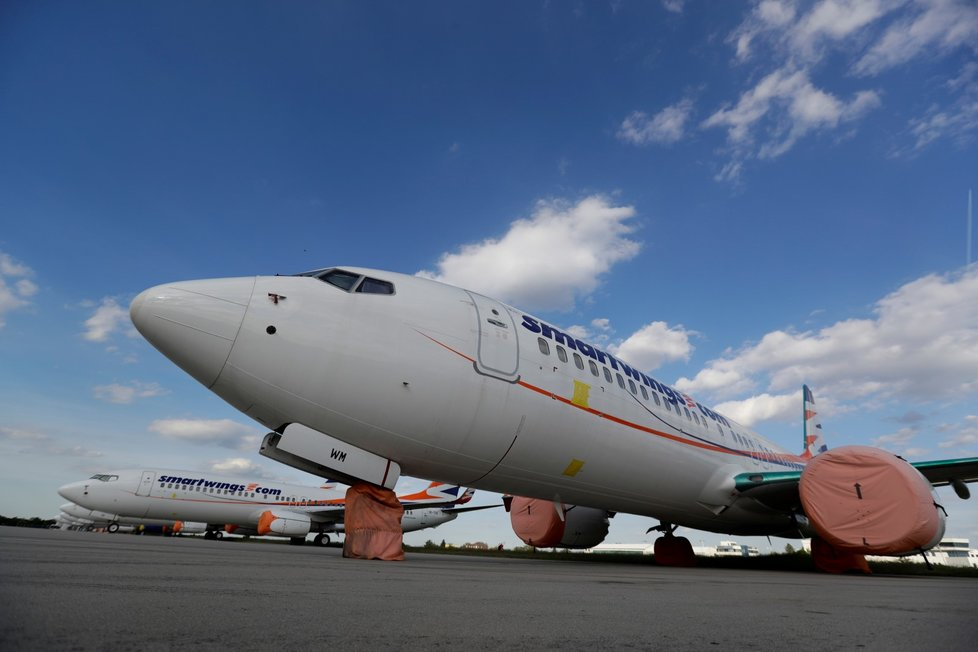 Letadlo Smartwings na letišti Václava Havla v Praze